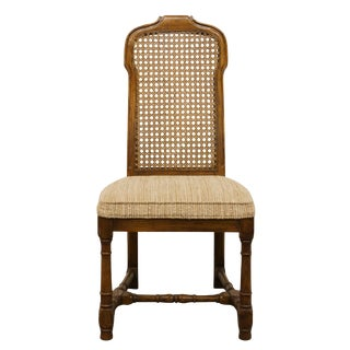 Late 20th Century Vintage Drexel Heritage Italian Provincial Cane Back Dining Side Chair For Sale