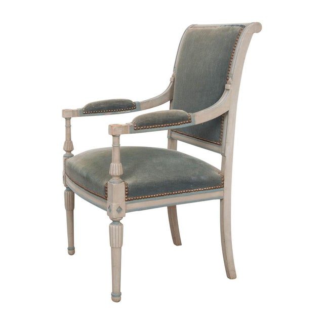 French 19th Century Second Empire Painted Fauteuil For Sale - Image 13 of 13