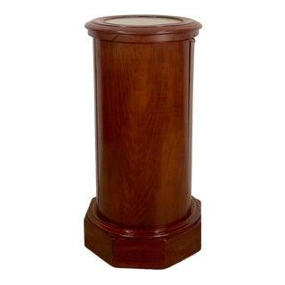 Victorian Mahogany Column Cabinet, England Circa 1870 For Sale