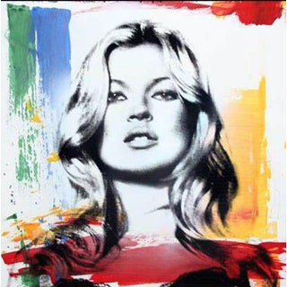 Kate Moss pop art/street art print by Mr. Brainwash