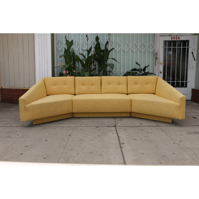 Just reupholstered 3 piece sofa in excellent condition. No damages on bottom base. Upholstery is well kept.
