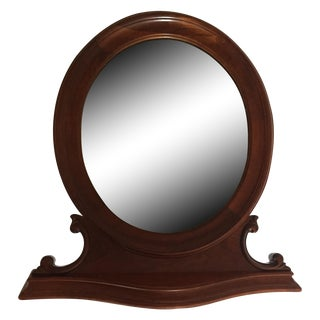 Antique Oval Table Top Mirror For Sale