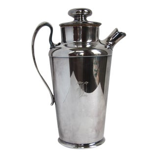 """Art Deco Drink Pitcher with Initial """"D"""""""