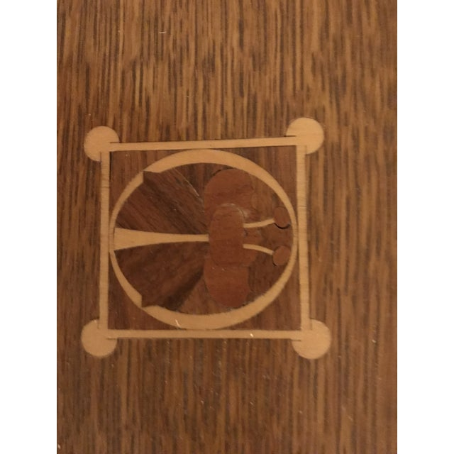 2000 - 2009 Harvey Ellis for Stickley Furniture Dining Table With Inlay on Four Corners For Sale - Image 5 of 7
