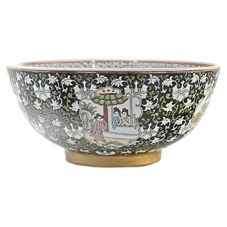 Chinese Noir Centerpiece Bowl For Sale