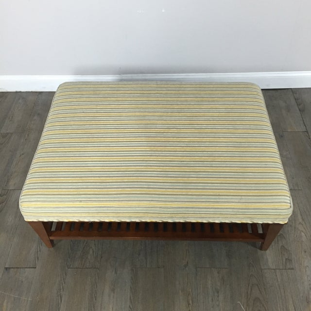 Upholstered Ottoman Coffee Table by Baker - Image 8 of 9