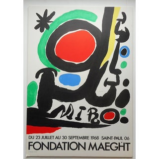 """Vintage Mid 20th C. Modern Miro Litho 20""""x29.5"""" For Sale"""