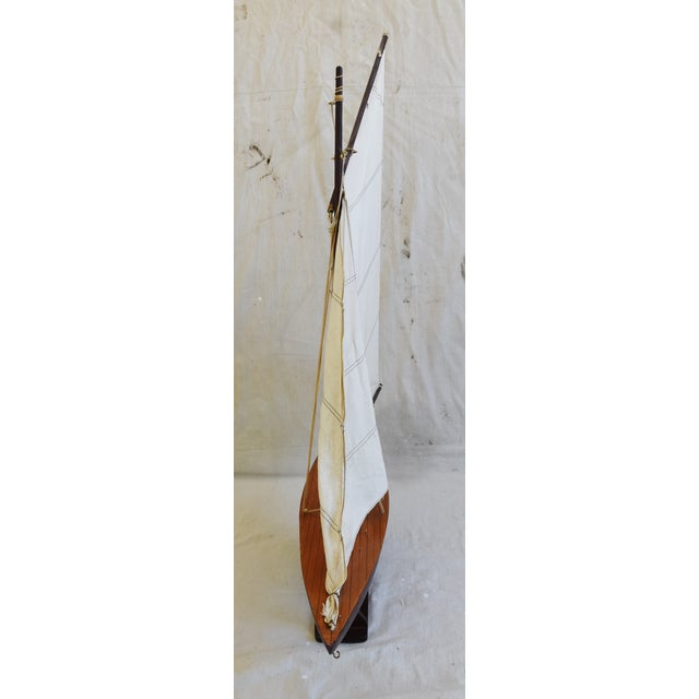 Mid 20th Century Vintage Nautical Sailing Ship/Boat Model W/Stand For Sale - Image 5 of 13