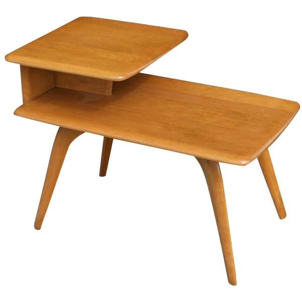 Heywood Wakefield Mid Century Coffee Table End Tables: Vintage Heywood-Wakefield Side Step End Table
