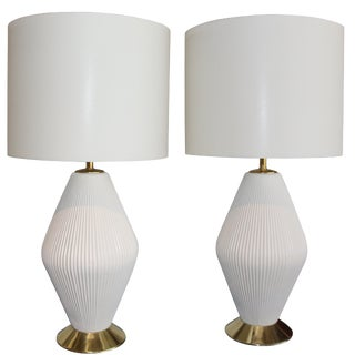 Gerald Thurston for Lightolier, 1950s, Porcelain Lamps For Sale