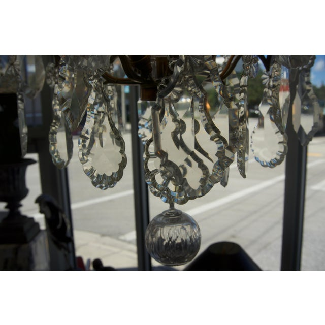 Transparent Louis XV Bronze & Hand-Cut Crystal Chandelier From France Circa 1850 For Sale - Image 8 of 9