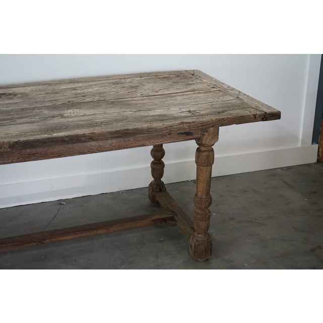18th Century Antique Oak Dining Table For Sale - Image 5 of 10