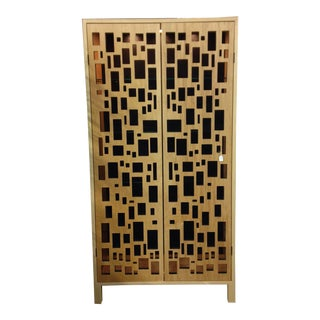 Random by Design Maple Veneer Storage Cabinet For Sale
