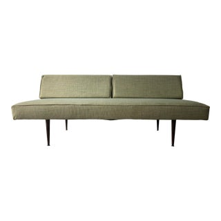 Vintage Mid Century Modern Armless Daybed Sofa For Sale
