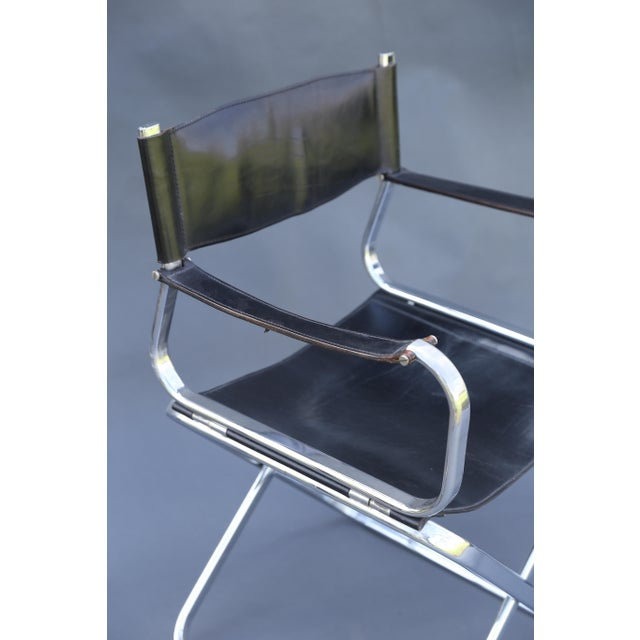 Arrben Italian Leather & Chrome Chairs - A Pair - Image 3 of 10
