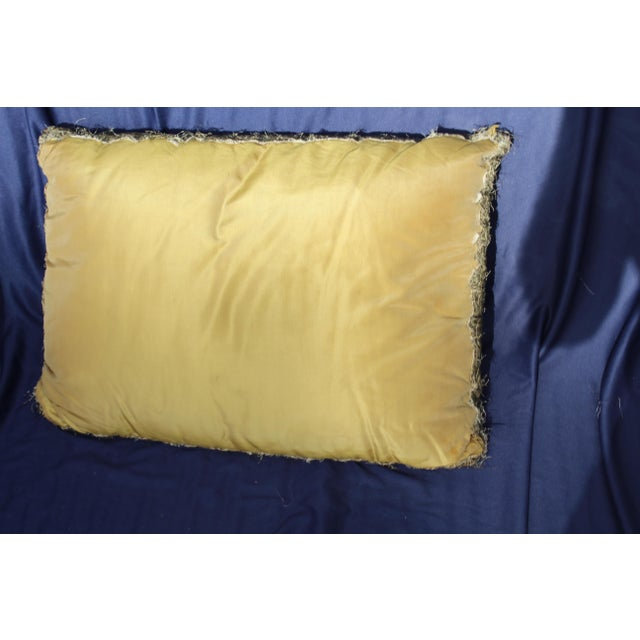 18 C. French or Italian Silk Pillow For Sale - Image 4 of 5