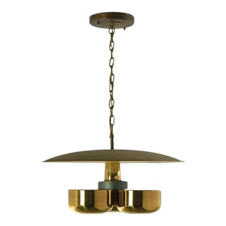 Gerald Thurston Brass Ceiling Light, Circa 1950s For Sale
