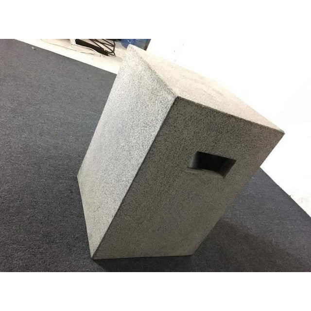 Contemporary Concrete Garden Stool - Image 4 of 7