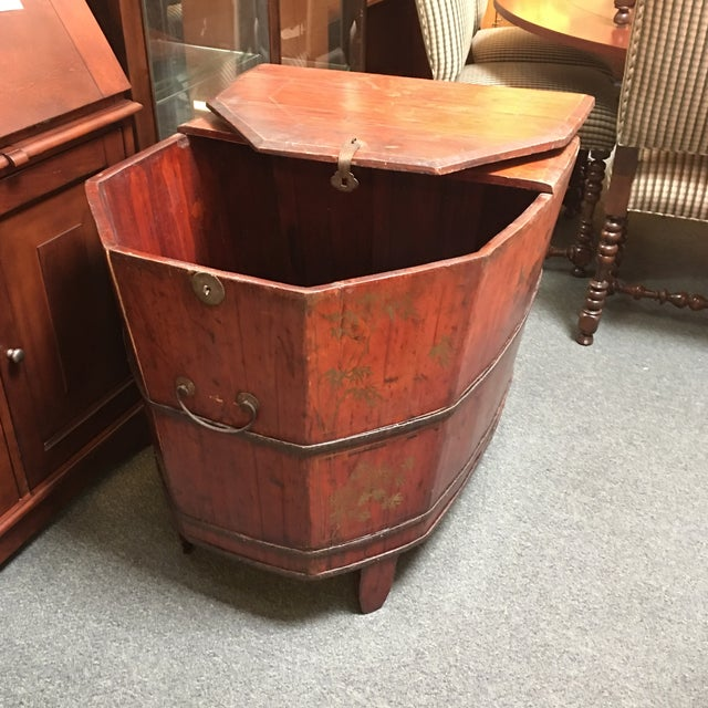 Vintage Chinese Wooden Soaking Tub | Chairish