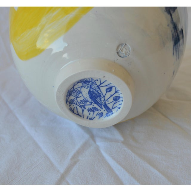 Contemporary Ceramic Large Chrysanthemum Egg Vessel For Sale In New York - Image 6 of 7