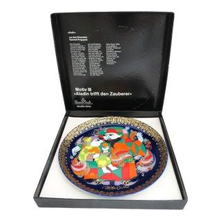"Rosenthal Studio Line Aladin Meets the Magicien Plate by Bjorn Wiinblad - Motif #3 - 6 1/2"" D For Sale"