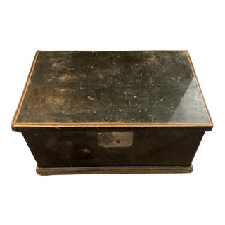 19th Painted Document Box For Sale