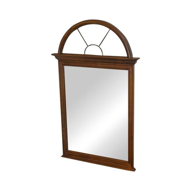 Lexington Cherry Arch Top Beveled Mirror For Sale