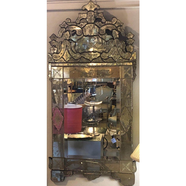 Pair of German Clear Center Venetian Style Mirrors For Sale - Image 4 of 11