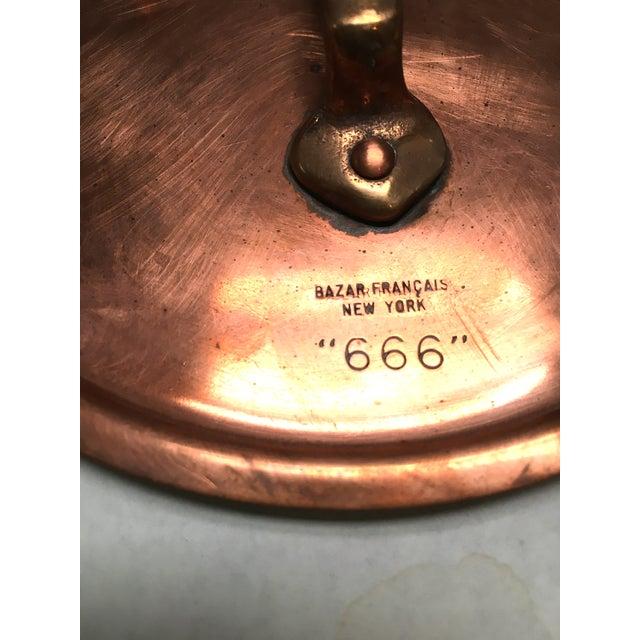 Bazar Francais Vintage Copper Saucepan - Image 5 of 8