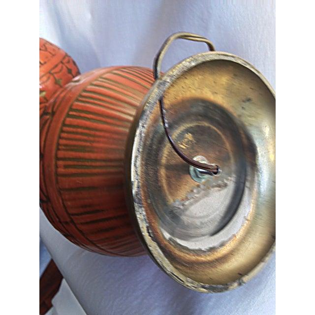 Orange Mid-Century Lamps - A Pair - Image 3 of 4