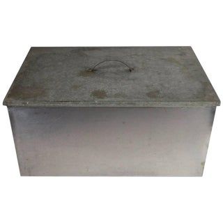 Stainless Steel and Galvanized Tin Industrial Storage Box For Sale