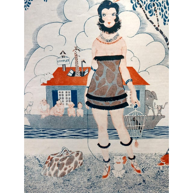 "1920 Stan Offel Le Sourire ""Noah's Ark"" Print For Sale - Image 4 of 5"