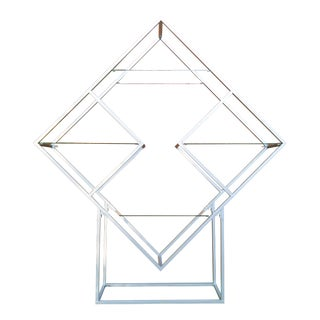 1970's Vintage Milo Baughman Style Diamond Shape Etagere For Sale