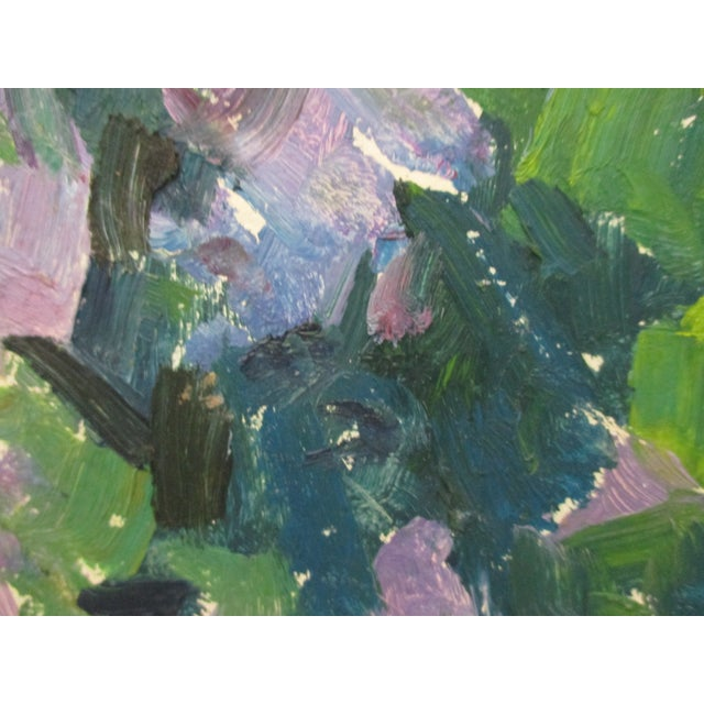 1970s Large Oil on Canvas Painting of Nature With Islands in the Background For Sale - Image 5 of 6