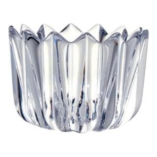 Vintage Orrefors Clear Crystal Flower Shape Bowl / Candy Dish For Sale