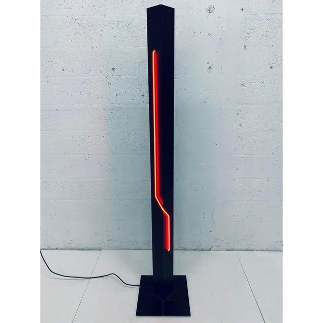 Rudi Stern Postmodern Red Neon Floor Lamp for George Kovacs, 1980s For Sale - Image 13 of 13