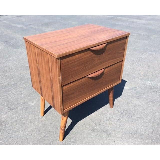Mid-Century Modern Custom Nightstand For Sale - Image 4 of 5