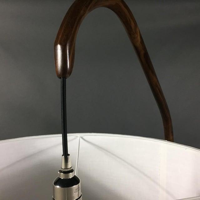 Walnut Daniel Oates Steambent Floor Lamp in Walnut For Sale - Image 7 of 10