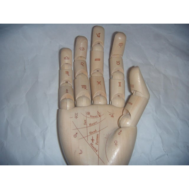 Flexible Wood Palmistry Hand / Artist Form - Image 8 of 9