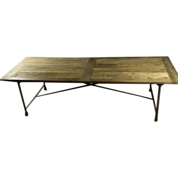 Restoration Hardware Reclaimed Elm Dining Table - Image 1 of 5