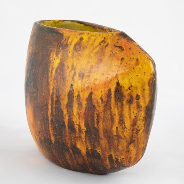 1960s Asymmetrical Marcello Fantoni Vase For Sale In New York - Image 6 of 12