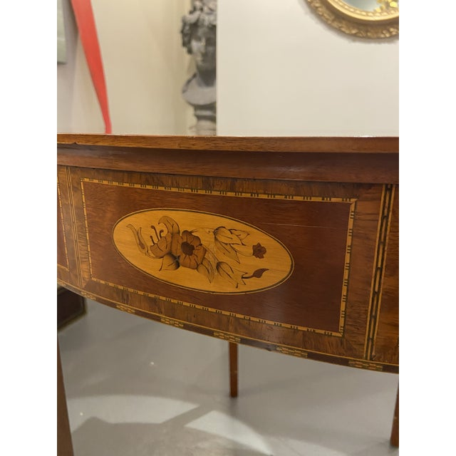 Wood 1930s Hepplewhite Mahogany Card Table For Sale - Image 7 of 11