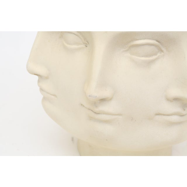 2005 TMS Fornasetti Style Perpetual Dora Mara Face Vase For Sale - Image 5 of 7