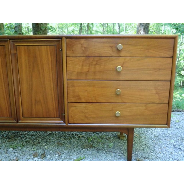 Kipp Stewart For Drexel Declaration Walnut Credenza Long Chest - Image 10 of 11