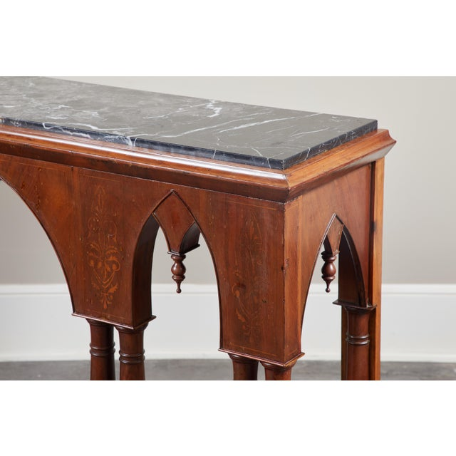 Mid 19th Century Early 19th C French Charles X Mahogany Console For Sale - Image 5 of 7