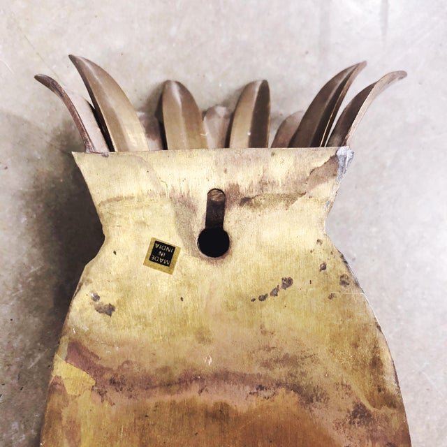 Brass Pineapple Wall Pocket For Sale - Image 4 of 5
