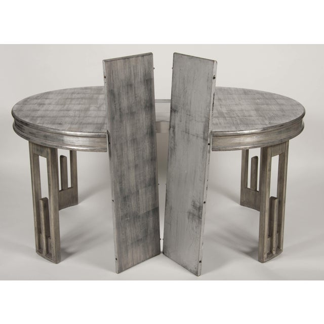 1950s Silver Leaf Dining Table by James Mont For Sale - Image 5 of 13