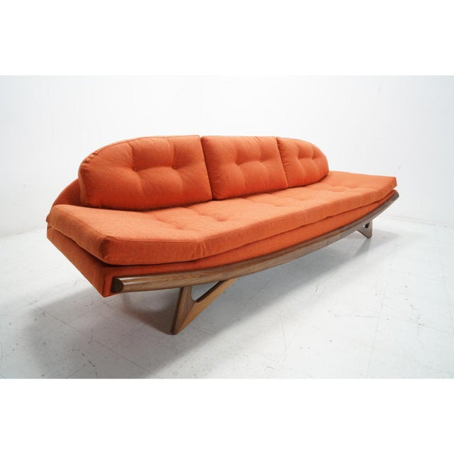 Adrian Pearsall Attributed Adrian Pearsall Gondola Sofa For Sale - Image 4 of 8