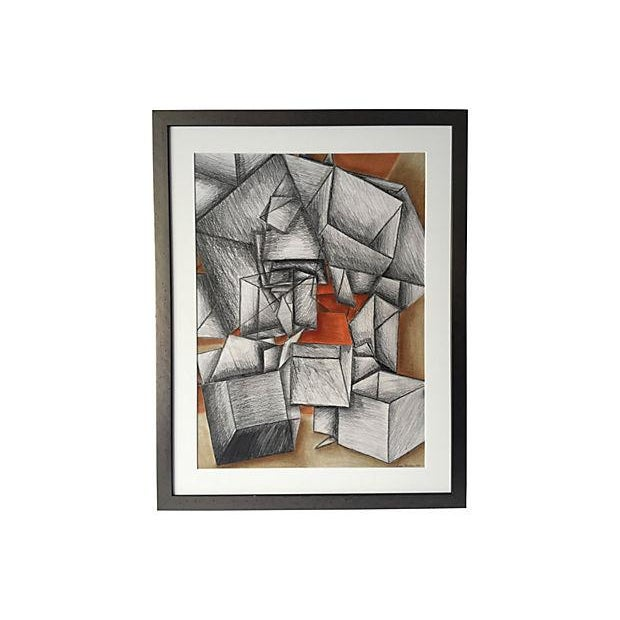 Cowen Modernist Cubist Abstract Drawing - Image 5 of 5