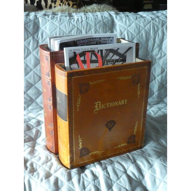 Italian Late 20th Century Vintage Italian Book Shaped Magazine Rack For Sale - Image 3 of 7